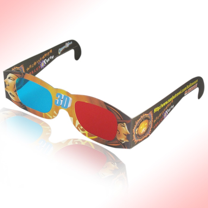 china made high quality wholesales cardboard disposable bulk paper 3d glasses