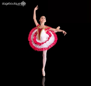 Eco-Friendly Chinese Classical Performance Red White Gold Red Ballet Tutu Dress