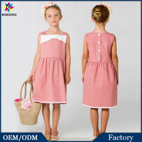 Latest Dress Designs Polk Dots Sewing Pattern Fashion Flower Kids Girls Casual Cotton Summer Dresses