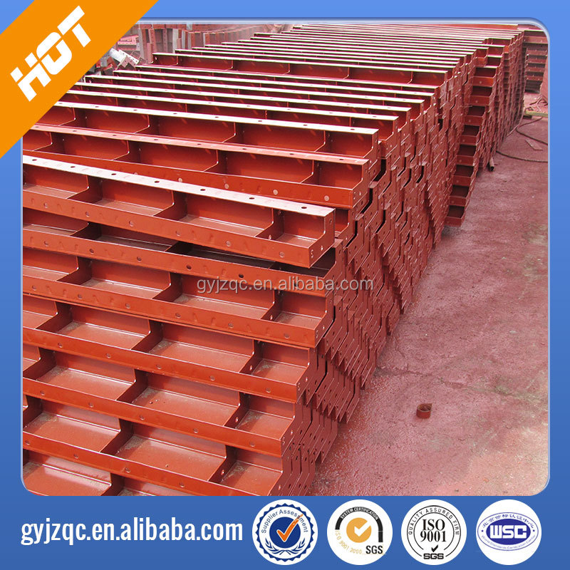 Concrete steel form board for road work