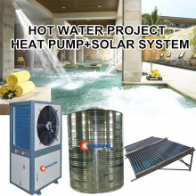 Hotel project air to water heat pump and solar system