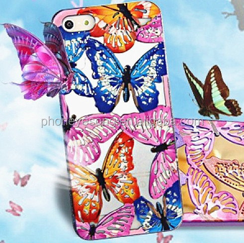 Beautiful batterfly hollowed tpu case for iphone 5 5s,for iphone case,for iphone 5 case