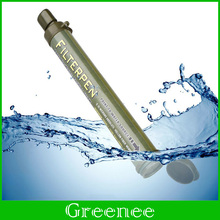Camping Hiking Water Filter Purification Survival Straw Emergency Purifier