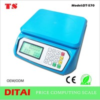 high quailty classic scale with blue color lcd 5kg food diet postal kitchen digital scale