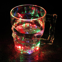 Water Sensor Switch Plastic LED skull tumbler with battery for bar&party(400ml)