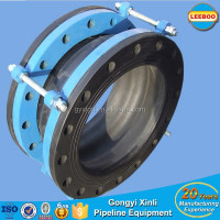 Large diameter flanged rubber pipe expansion joint