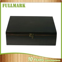 color leather covered wooden wine box