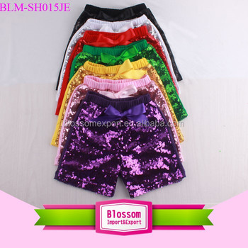Multi Coloured Stylish Baby Sparkle Sequins Shorts Newborn Toddler Girls Cotton Pants Fancy Sequin Pants For Baby Girls