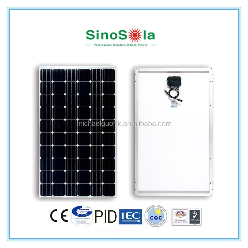 high efficiency Good Price 250w Mono Solar Panel solar wafer price Pump for Solar System Power Plant with TUV/IEC/CEC/CE/PID