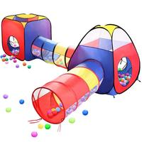 4 In 1 Pop Up Children Toddler Ball Pit House Tunnel Castle Indoor Customized Kids Play Tent