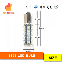 LED manufacturer factory high power auto car led 1156 BA15S 1157 3528 68smd brake reverse tail turn light backup lights