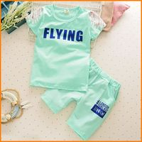 In the summer of 2016 the new cotton cotton children Suit Girls and boys short sleeved T-shirt shorts two piece suit