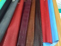 (sofa cover sample)Colorful cow skin leather material for making shoes and sofa