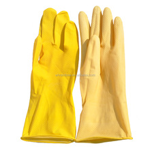 flocklined household latex glove