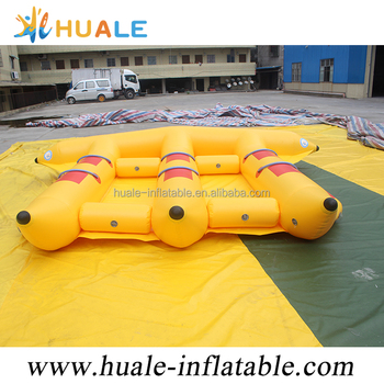 Hot water game inflatable boat,inflatable banana boat inflatable flyfish boat for sale