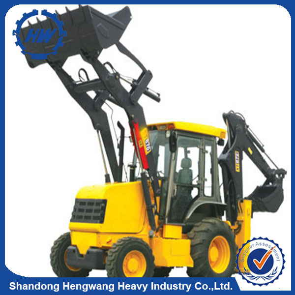 Mobile 4 wheels digger loader with comfortable cab