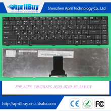 Replacement laptop keyboard for ACER Emachines D520 D720 RU layout keyboard