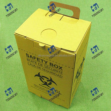 disposable safety box cardboard sharp container