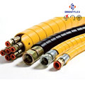 Hot sale various sizes elastic hydraulic hoses PP chemical rubber hose 150 psi manufacturer supplier
