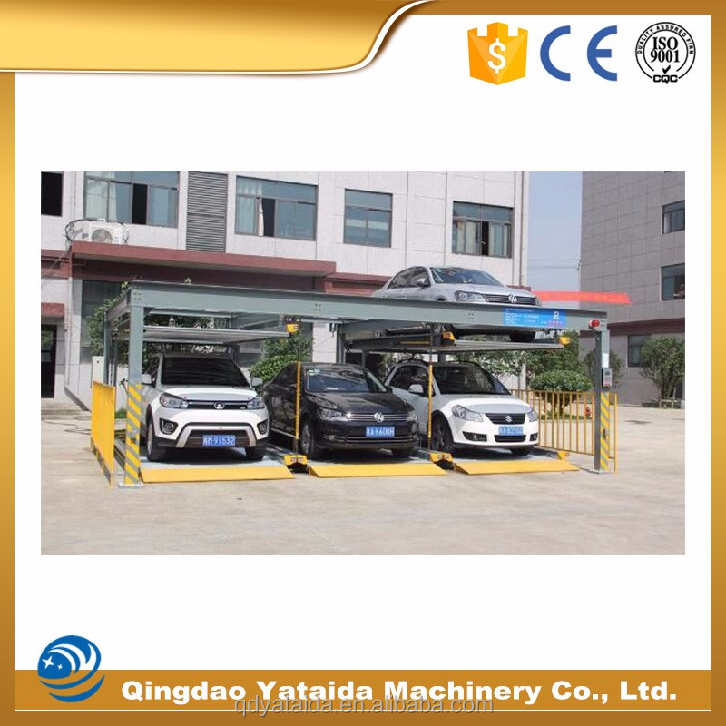 warranty 5 years hotel mall lift-sliding car parking system