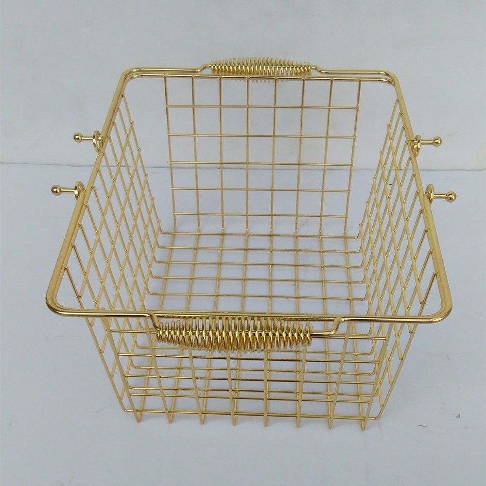Small size chrome wire metal shopping basket