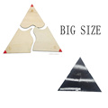 Wooden assembly triangle math exercise