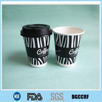 8oz double wall custom printed paper cup for hot coffee