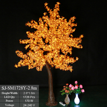 New product outdoor lighted artificial led japanese maple christmas tree