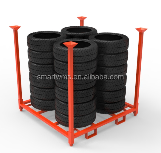 Heavy Duty Scale Folding Metal Stackable Spare Tire Stacking Container