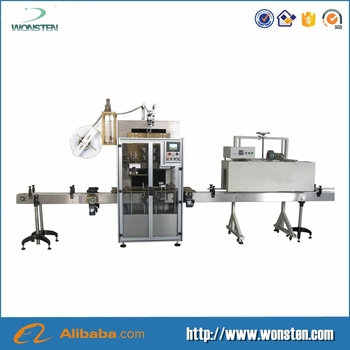 Full automatic double sides pet bottle sleeve labeling machine for round bottle