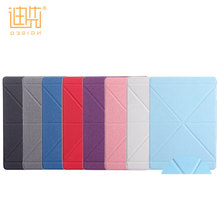 New products style PU+PC material lightweight foldable multi-dimension back cover for ipad mini 4 hard case