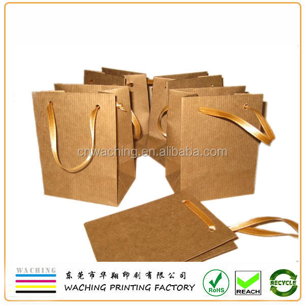 Luxury Textured Kraft paper bag with leather handles