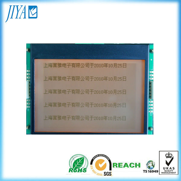 240x128 dots graphic fstn cog positive transflective lcd module with white blacklight