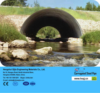 Metal culvert pipe materials are cheap and the installation costs of it are reduced