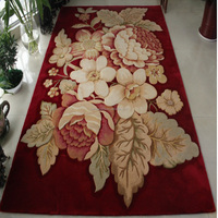 Handmade Wool Flower Design for Area Carpet TY-1