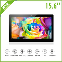 China manufacturer Super slim 15.6 Inch wall mounted Android system screen media advertising with strong case