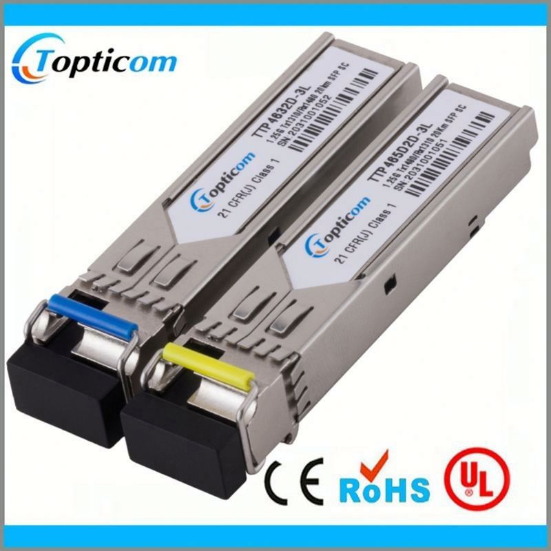 buy direct from china manufacturer bidi sfp fiber optic transceiver 1.25gbps 1490tx/1550rx dfb apd 120km