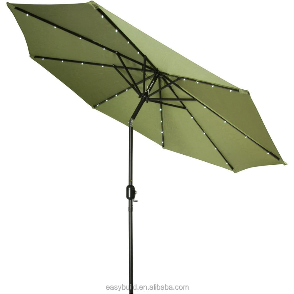 Top Quality Cheap Price green Color Parasol 8 Aluminum Ribs Outdoor Garden line Umbrella