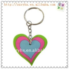 3d pvc keychain Soft Rubber fashion style Sublimation luminous ploymer wedding key chain
