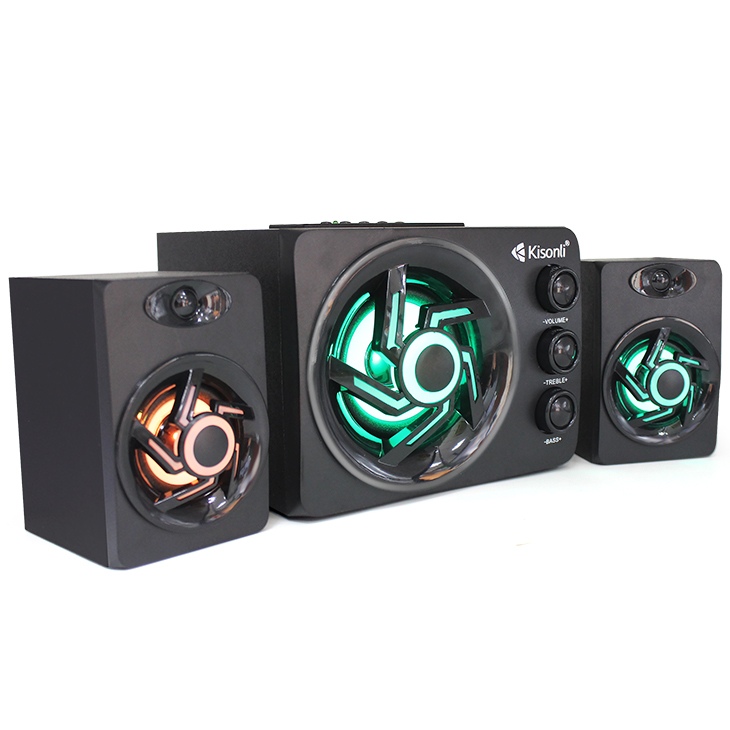 Home theater 3-way DJ Mid Bass Wireless USB 2.1speaker box Portable Amplifier <strong>speaker</strong> with TF,FM