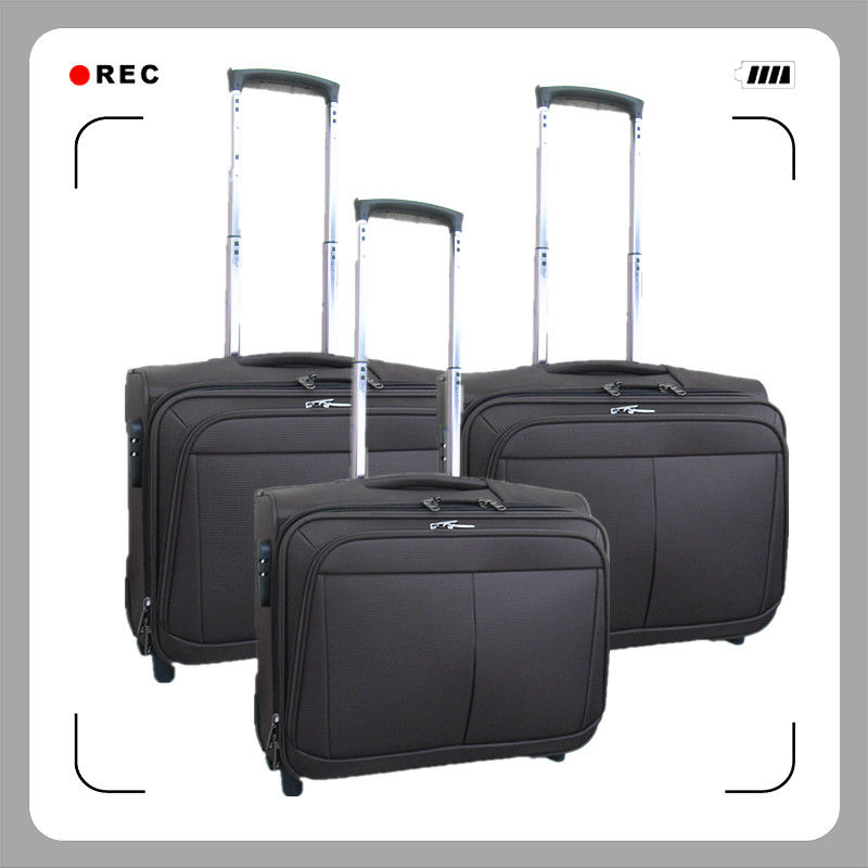 2015 New Design 1680D Pilot Laptop Trolley Case