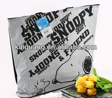 SNOOPY NON-WOVEN LARGE ECO SHOPPING BAG WITH SHOULDER STRIPE