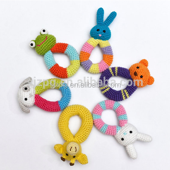 Crochet Baby Rattle Soft Toy Eco Friendly Rattle