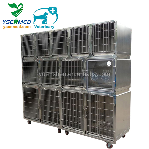 Modular stainless steel large strong dog cage