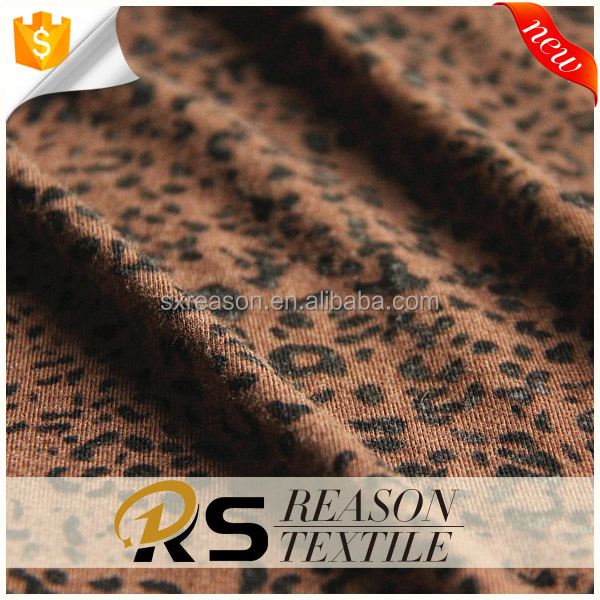 Shaoxing factory direct sale viscose rayon fabric leopard print knit fabric
