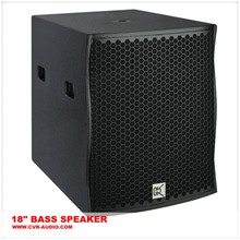18 inch long throw pro audio subwoofer