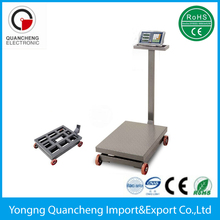 moveable platform scale with wheels balance weight electronic weighing scale