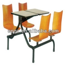 Novel Design Canteen Table and Chairs for 4 people, Popular And Widely Used As School Dining Furniture