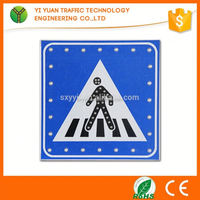 Cheap products in alibaba reflective flashing solar led traffic safety sign
