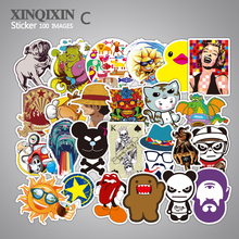 100 PCS Mixed Stickers Laptop Luggage Car Bicycle Motorcycle Skateboard Phone Decal Graffiti Waterproof Sticker